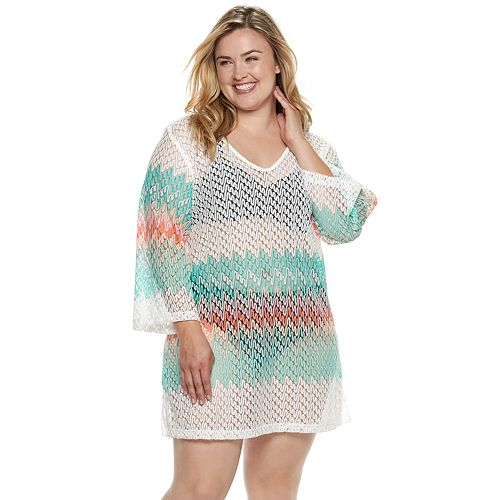 Plus Size Apt. 9® Heat Wave Crochet Cover-Up