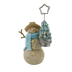 St. Nicholas Square® Coastal Snowman Christmas Photo Clip