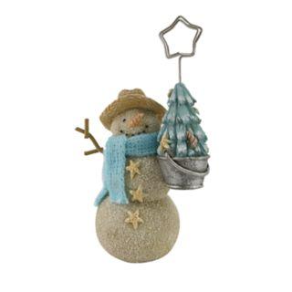 St. Nicholas Square® Coastal Snowman Christmas Photo Clip