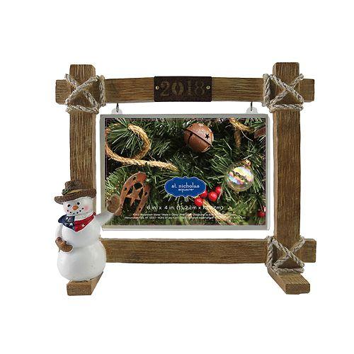 """St. Nicholas Square® Texas """"2018"""" 4"""" x 6"""" Christmas Frame"""