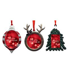 St. Nicholas Square® Rustic Photo Holder Christmas Ornament 3-piece Set