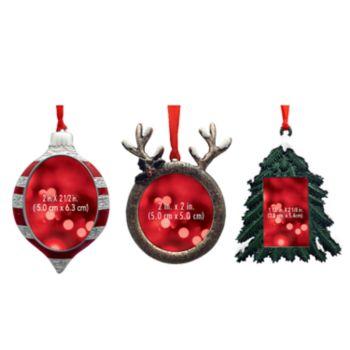 St. Nicholas Square® Rustic Photo Holder Christmas Ornament 3-piece Set