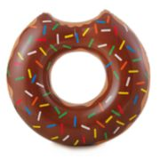 RhinoMaster Play Gourmet Chocolate Doughnut Inflatable Pool Tube