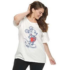 Disney's Mickey Mouse 90th Anniversary Juniors' Plus Size Sketch Tee
