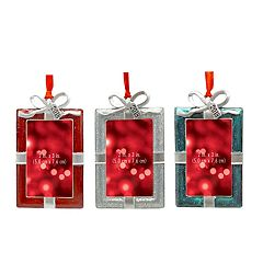 St. Nicholas Square® '2018' 2' x 3' Photo Holder Christmas Ornament 3-piece Set