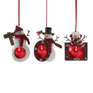 "St. Nicholas Square® ""2018"" Photo Holder Christmas Ornament 3-piece Set"