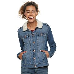 Women's SONOMA Goods for Life™ Sherpa Trim Jean Jacket