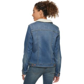 Women's SONOMA Goods for Life? Sherpa Trim Jean Jacket