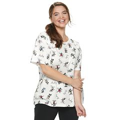 Disney's Mickey Mouse 90th Anniversary Juniors' Plus Size 'Mickey' Tee