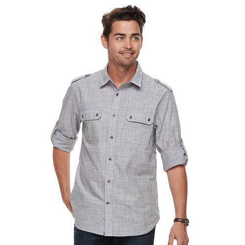 Men's Rock & Republic Textured Button-Down Shirt