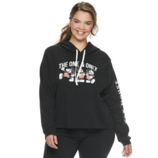 """Disney's Mickey Mouse 90th Anniversary Juniors' Plus Size """"The One & Only"""" Fleece Hoodie"""