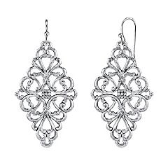 1928 Filigree Kite Drop Earrings