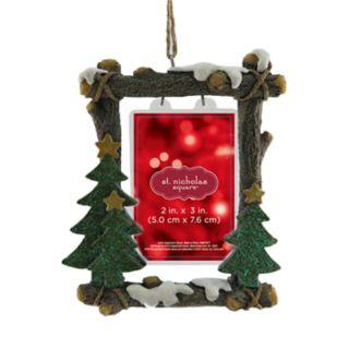 "St. Nicholas Square® Rustic 2"" x 3"" Photo Holder Christmas Ornament"