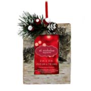 "St. Nicholas Square® Birch 2"" x 3"" Photo Holder Christmas Ornament"