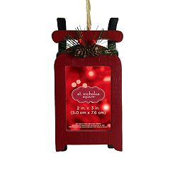 St. Nicholas Square® Sleigh 2' x 3' Photo Holder Christmas Ornament