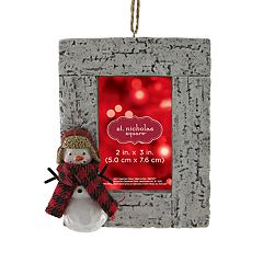 St. Nicholas Square® Snowman 2' x 3' Photo Holder Christmas Ornament