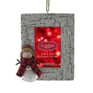 "St. Nicholas Square® Snowman 2"" x 3"" Photo Holder Christmas Ornament"