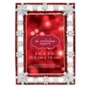 "St. Nicholas Square® Snowflake 2"" x 3"" Photo Holder Christmas Ornament"