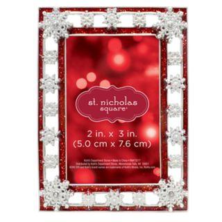 """St. Nicholas Square® Snowflake 2"""" x 3"""" Photo Holder Christmas Ornament"""