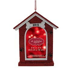 St. Nicholas Square® Dog House 2' x 3' Photo Holder Christmas Ornament