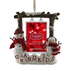 St. Nicholas Square® 'Grandkids' 2' x 3' Photo Holder Christmas Ornament