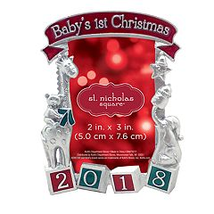 St. Nicholas Square® '2018 Baby's 1st' 2' x 3' Photo Holder Christmas Ornament