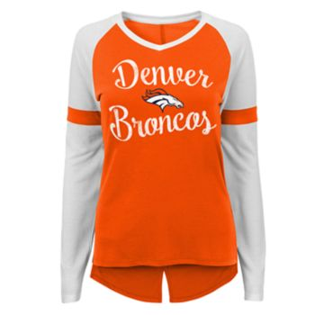Juniors' Denver Broncos Splitback Tee
