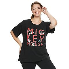 Disney's Mickey Mouse 90th Anniversary Juniors' Plus Size 'Mickey Mouse' Tee
