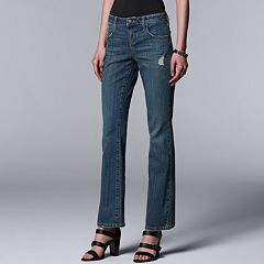 Women's Simply Vera Vera Wang Everyday Luxury Midrise Bootcut Jeans