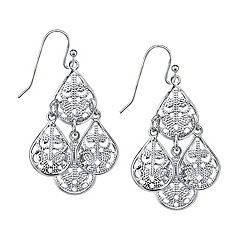 1928 Teardrop Chandelier Earrings