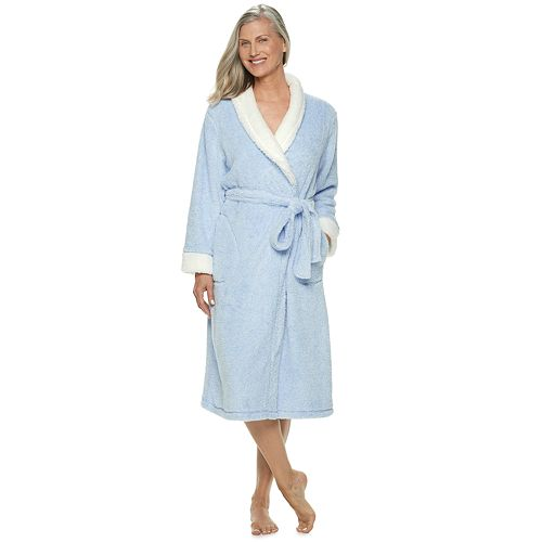Women's Croft & Barrow® Textured Plush Wrap Robe