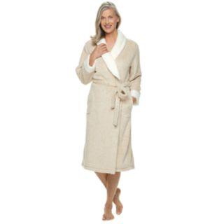 Women's Croft & Barrow® Textured Plush Wrap Robe