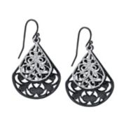 1928 Filigree Double Teardrop Earrings