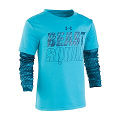 Boys 4-7 Under Armour 'Beast Squad' Mock Layer Graphic Tee