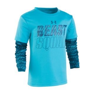 "Boys 4-7 Under Armour ""Beast Squad"" Mock Layer Graphic Tee"