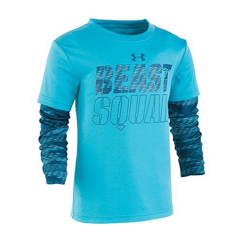 """Boys 4-7 Under Armour """"Beast Squad"""" Mock Layer Graphic Tee"""