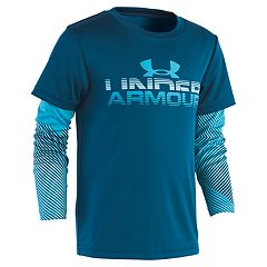 Boys 4-7 Under Armour Mock Layer Abstract Logo Graphic Tee