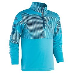 Boys 4-7 Under Armour 1/4 Zip Sequence Mock Layer Pullover Top