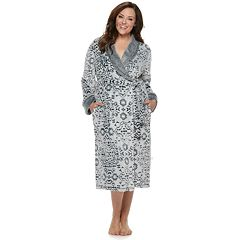 Plus Size Croft & Barrow® Paisley Plush Wrap Robe