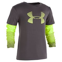 Boys 4-7 Under Armour Mock Layer Logo Graphic Tee