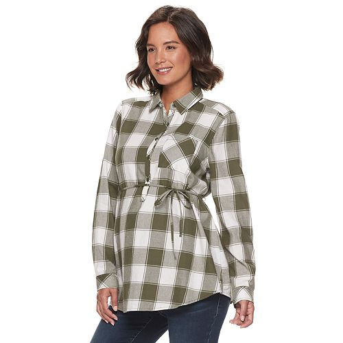 Maternity a:glow Flannel Shirt