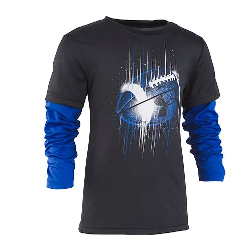 Boys 4-7 Under Armour Mock Layer Football Graphic Tee