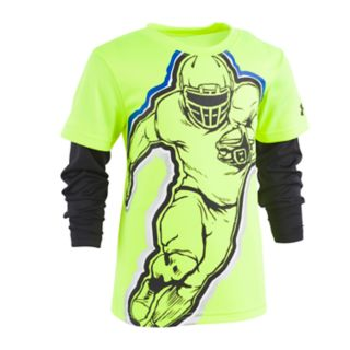 Boys 4-7 Under Armour Mock Layer Football Hero Graphic Tee