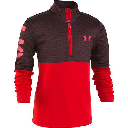 Boys 4-7 Under Armour 1/4 Zip Razor Mock Layer Pullover Top