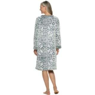 Women's Croft & Barrow® Paisley Plush Zip Robe