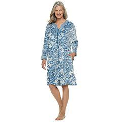 Women's Croft & Barrow® Paisley Plush Zip Robe