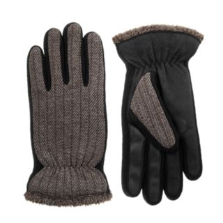 Men's isotoner smarTouch® Sherpa Tweed Gloves