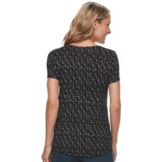 Women's Croft & Barrow® Print Smocked Top