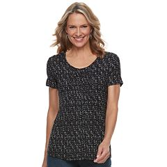 Women's Croft & Barrow® Print Smocked Top