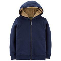 Boys 4-12 Carter's Velboa Lined Zip Hoodie